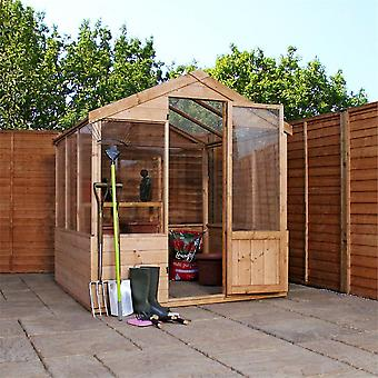 Mercia 6x6ft Traditional Dip Treated FSC Wooden Apex Greenhouse