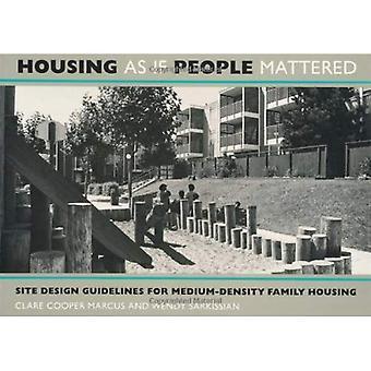 Boliger som hvis folk betød noget: Site Design retningslinjer for planlægning af Medium-Density familie boliger
