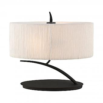 Mantra Eve Table Lamp 2 Light E27 Small, Antracite With White Oval Shade Mantra Eve Table Lamp 2 Light E27 Small, Antracite With White Oval Shade Mantra Eve Table Lamp 2 Light E27 Small, Antracite With White Oval Shade Mantra Eve