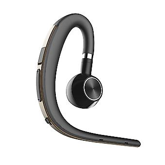 Ear-hanging unilateral bluetooth 4.1 earphone business stereophonic headset noise reduction hd call gold