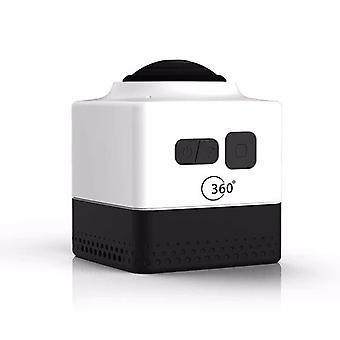 Cube360 wifi al aire libre mini cámara de deportes - hd panorámica 360 grados cámara de acción impermeable, blanco