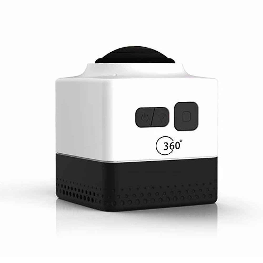 Cube360 outdoor wifi mini sports camera - hd panoramic 360 degree waterproof action camera,white