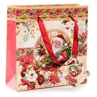 Wellindal Paper Bag Santa Claus (Decoration , Christmas , Christmas Decoration , Others)