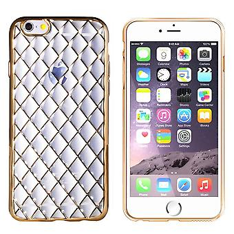 Custodia CoolSkin Diamond per Apple iPhone 6/6S Plus Oro trasparente