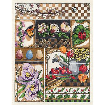 Spring Montage Counted Cross Stitch Kit-11