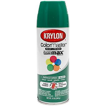 Colormaster Indoor/Outdoor Aerosol Paint 12oz-Gloss Emerald Green 1000A-52016