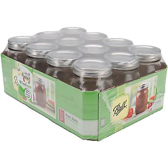 Ball Canning Jar Regular Mouth with Lid Pint 61000