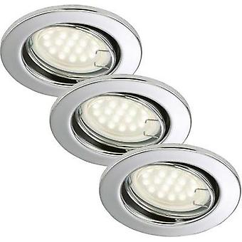 Flush mount light 3-piece set LED GU10 9 W Briloner 7208-038 Chrome