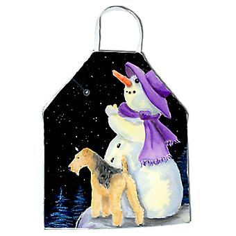 Snowman with Lakeland Terrier Apron