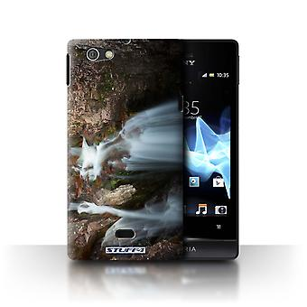 STUFF4 Case/Cover for Sony Xperia Miro/ST23I/Rocky Waterfall/Scottish Landscape