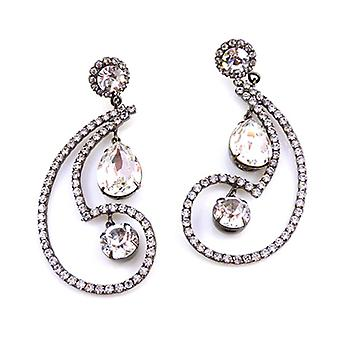 Kenneth Jay Lane Cristal Boucles d'oreilles Paigely