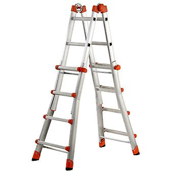 Gierre Aluminum Telescoping ladder EN131 Peppina (6 + 6 Treads)