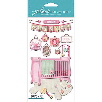 Jolee's Boutique Dimensional Stickers-Baby Girl - Nursery E5050631