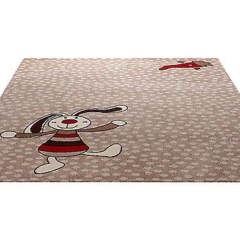 Rainbow Rabbit Rug In Beige 0523 04