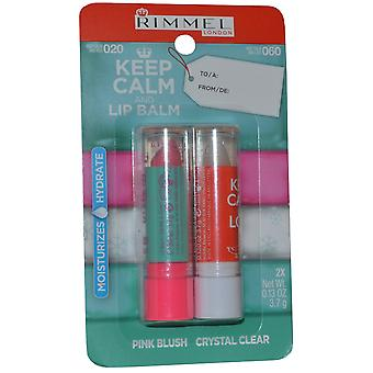 Rimmel London Keep Calm and Lip Balm Lip Balm Duo Pack 3.7g Pink Blush and 3.7g Crystal Clear