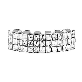 One size fits - inferiore invisibile - argento bling Grillz