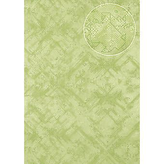 Graphic wallpaper Atlas SIG-581-4 non-woven wallpaper structured shimmering with abstract pattern green pale green fern-Green 5.33 m2