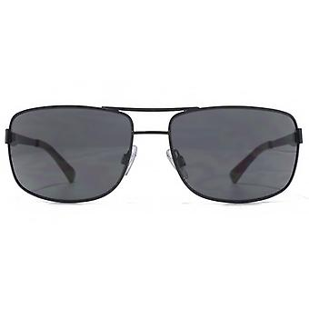 American Freshman Metal Rectangle Aviator Sunglasses In Matte Black