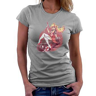 Princess Peach Riding Bullet Bill Super Mario Women's T-Shirt