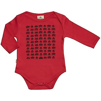 Spoilt Rotten Game Invaders Long Sleeve Organic Baby Grow