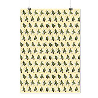 Matte or Glossy Poster with Tree Pattern Christmas Jolly Holidays | Wellcoda | *q1522