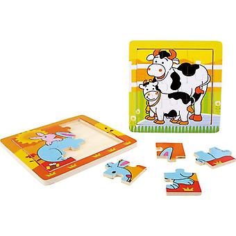 Legler Puzzle in frame  Family Animals  (Toys , Boardgames , Puzzles)