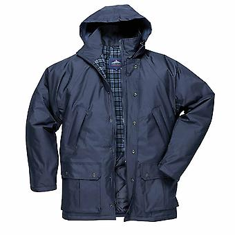 Portwest - Dundee Brushed Cotton Tartan Lined Waterproof Jacket With Hood