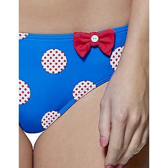 Audelle Minnie Blue and White Low Rise Bikini Brief 150472