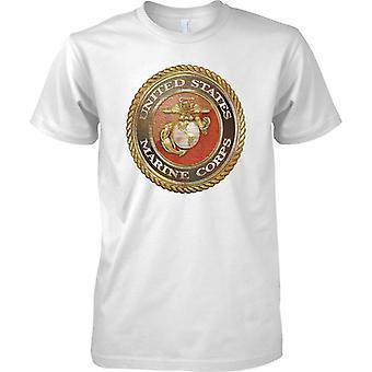 Estados Unidos cuerpo de Marines Grunge Insignia - niños T Shirt