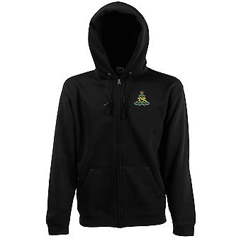 Royal Artillery Embroidered Logo - Official British Army Zipped Hoodie Jacket