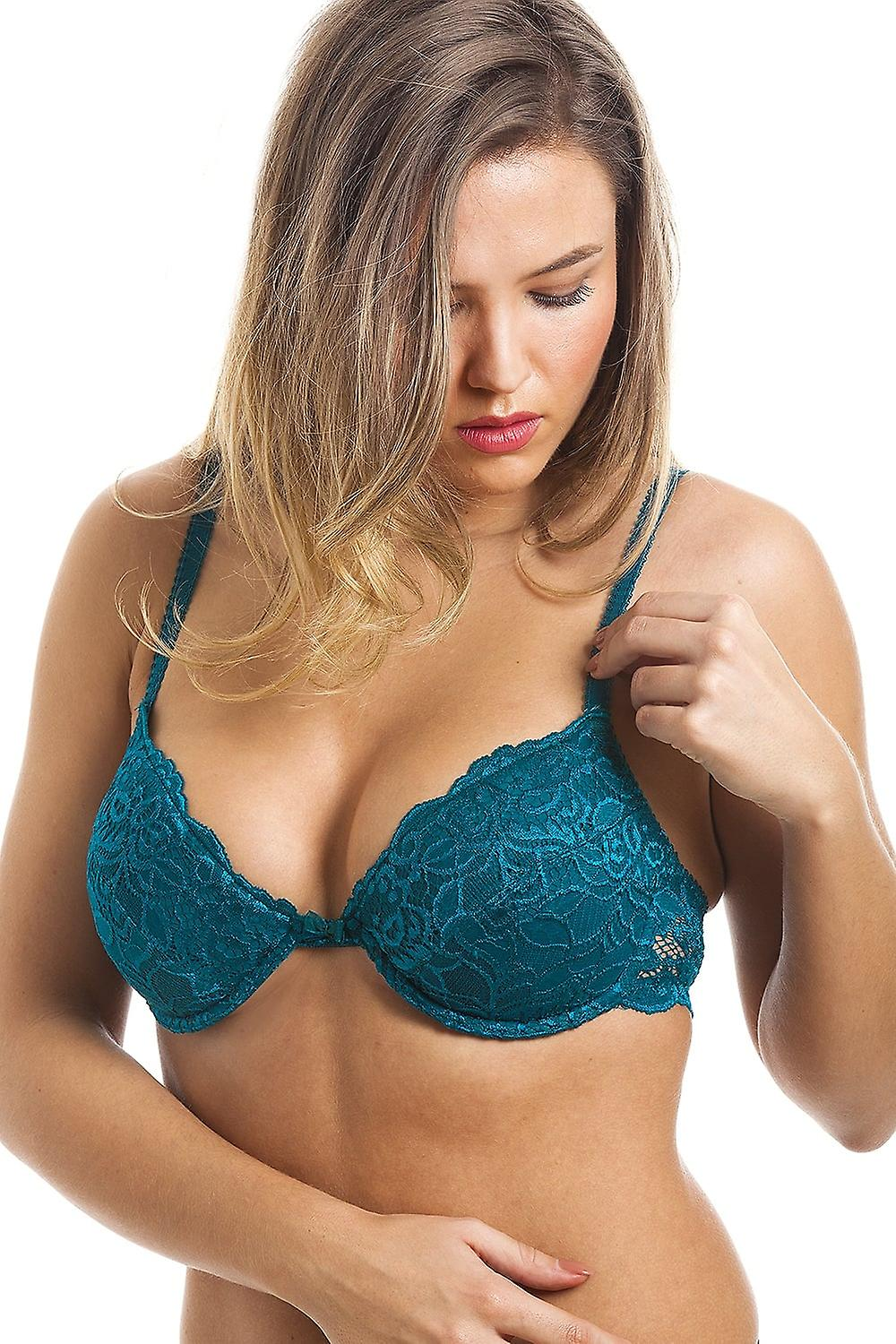 7b59c3e441 Camille Camille Womens Ladies Teal Push Up Plunge Padded Underwired Bra  Size 32A-40E