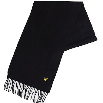 Lyle & Scott V311a Lambswool Black Scarf