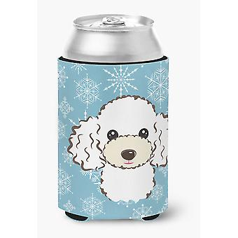 Carolines Treasures  BB1691CC Snowflake White Poodle Can or Bottle Hugger