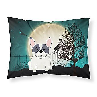 ハロウィーン怖いフレンチ ブルドッグまだら色のファブリックの標準的な枕