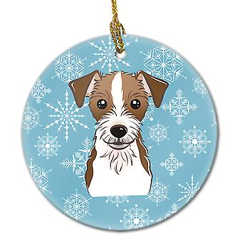 Carolines Treasures  BB1636CO1 Snowflake Jack Russell Terrier Ceramic Ornament