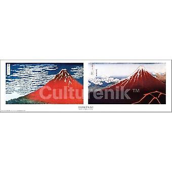 Hokusai - Mt Fuji - Slim Poster Poster Print