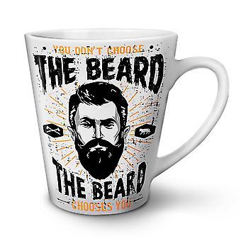 Don't Choose Beard NEW White Tea Coffee Ceramic Latte Mug 17 oz | Wellcoda
