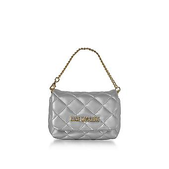 Love Moschino ladies JC4099PP15LO0902 silver faux leather clutch