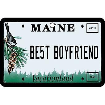 Maine - Best Boyfriend License Plate Car Air Freshener