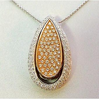 18 k bicolor pendant with diamonds