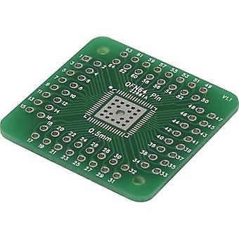 Prototyping PCB Epoxide (L x W) 33 mm x 33 mm 35 µm Contact spacing 2.54 mm Conrad Components QFN56P-QFN 64P Content 1