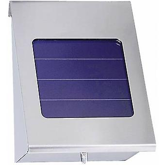 Solar outdoor wall light Neutral white Esotec 102080-01 Shine Stainless steel
