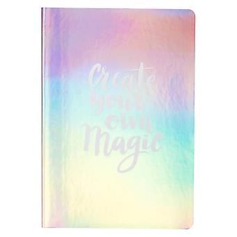 A5 Mermaid Iridescent Lined Notepad Notebook Office School Journal