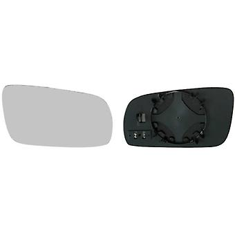 Right Mirror Glass (heated) & Holder for SEAT CORDOBA Vario 1999-2002