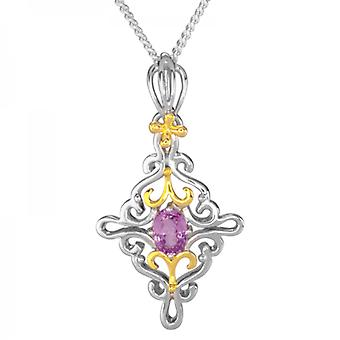 Ladies Shipton And Co Silver And Spinel Pendant Including A 16 Silver Chain PQF013SL