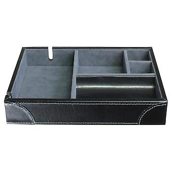 Leather Heritage Black Valet Tray