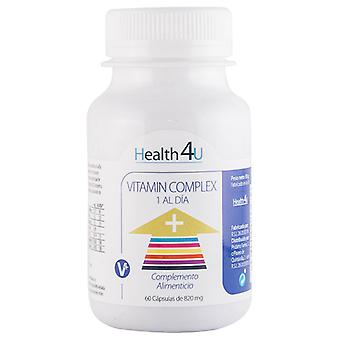 Health 4U Vitamin Complex 60 capsulas de 820 mg (Vitamins & supplements , Multinutrients)