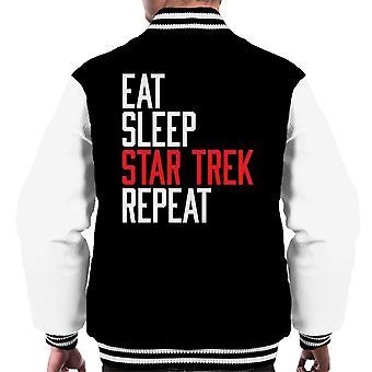 Eat Sleep Star Trek Repeat Men's Varsity Jacket