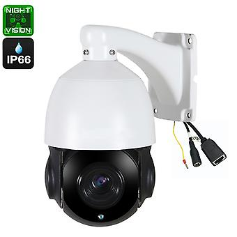 PTZ Dome Camera - 20X Optical Zoom, 60 Meters Night Vision, 1/3 Inch 5MP CMOS, Support P2P, ONVIF Compliance, IP66