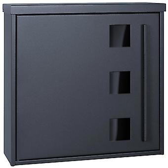 MOCAVI box 103 G design mail box with window anthracite (RAL 7016)